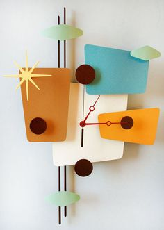 ModOTomic Clock by Stevotomic on Etsy | whats been spotted on etsy today? | Scoop.it