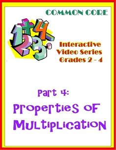 Properties of Multiplication (Common Core)-- Interactive Powerpoint for Commutative and Distributive Properties