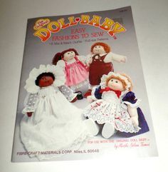 Doll Baby Pattern Book 8 Mix and Match Outfits Unused