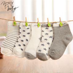 10 pieces/lot=5pair Cotton Baby Socks Newborn Floor Socks Girl and Boy Short Socks
