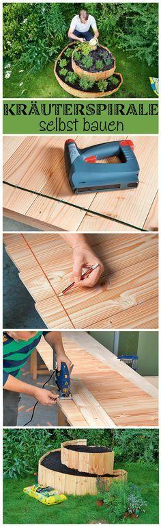 Eine Kräuterspirale bietet den Vorteil, dass man viele Kräuter auf kleinem Raum anpflanzen kann und die Kräuter durch die Spirale zudem optimal gewässert werden. Die Kräuterspirale aus Holz kann man schnell und einfach selbst bauen. Wir zeigen, wie es geht.