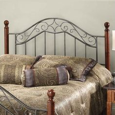 Martino Wood and Metal Headboard