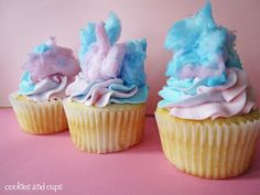 Cotton Candy Cupcakes Recipe | My Thirty Spot