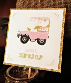 Pink, Gold & GLAM Safari Birthday Party