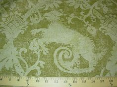 """Medieval """"Hounds"""" Linen Upholstery Fabric Fabric for Less BTY 