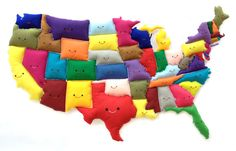 American felted map