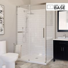 Find everything you need for your bathroom at amazing prices. Browse our selection of complete shower kits to create the trendy space you deserve in no time! Framed Shower Door, Frameless Sliding Shower Doors, Glass Shower Doors, Shower Faucet, Corner Shower Units, Corner Showers, Complete Bathroom Sets, Shower Kits, Diy Shower
