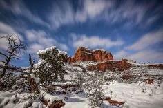 Cathedral Rock Starry Night by kelliklymenko - It Is Cold Outside Photo Contest