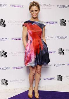 Emilia Fox, water-colour inspired dress