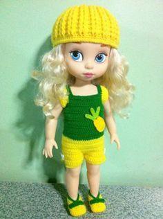 Crochet Doll Clothes, Knitted Dolls, Crochet Dolls, Crochet Hats, Disney Animator Doll, Disney Dolls, Disney Animators Collection Dolls, Cinderella Doll, Disney Dresses
