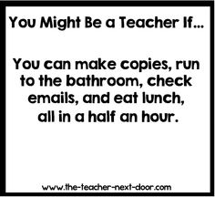 So true! Find more teacher humor and observations that might make you laugh on The Teacher Next Door's Teacher Humor Pinterest Board.