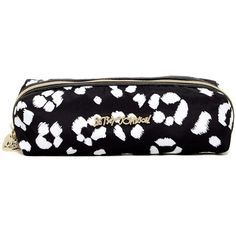 Betsey Johnson Printed Pencil Case found on Polyvore featuring home, home decor, office accessories, white, zipper pencil pouch, zipper pencil case, white pen, white pencil en betsey johnson