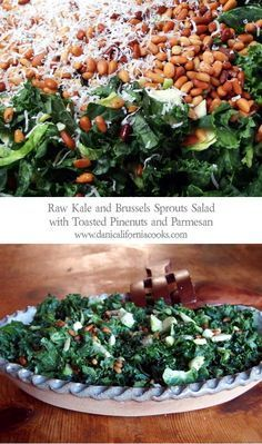 Raw Kale and Brussels Sprouts Salad | danicaliforniacooks.com