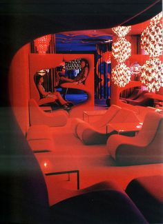 The Trippy Varna Restaurant In Århus, Denmark, by Verner Panton (1971)