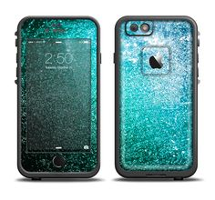 The Grungy Teal Texture Apple iPhone 6/6s Plus LifeProof Fre Case Skin Set from DesignSkinz
