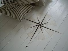 Compass on the floor.