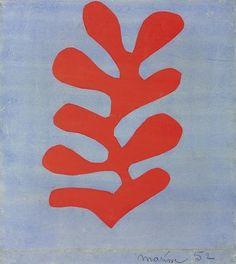 Algue Rouge sur Fond Bleu Ciel, Henri Matisse.