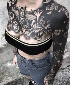 These Striking Solid Black Tattoos Will Make You Want To Go .- These Striking Solid Black Tattoos Will Make You Want To Go All In blackout tattoo ideas for women 💕💕💕 - Maori Tattoos, Body Art Tattoos, New Tattoos, Sleeve Tattoos, Black Sleeve Tattoo, Black Tattoo Cover Up, Tattoo Sleeves, Thigh Tattoos, Blackout Tattoo