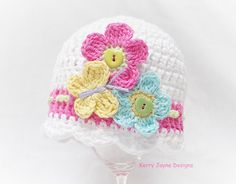 FLUTTER BY CROCHET hat pattern Baby crochet by KerryJayneDesigns