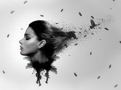 Como crear una fotomanipulacion [episodio 5][Mujer Cuervo][photoshop CC ...