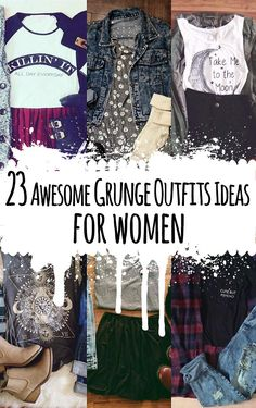 23 Awesome Grunge Outfits Ideas for Women - http://ninjacosmico.com/23-awesome-grunge-outfits/
