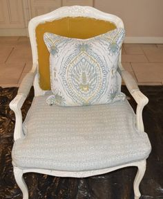 Chair before painting with Annie Sloan & new upholstery Chalk, Chalk Paint, Chair, Home, Accent Chairs, Upholstery, Refurbishing, Home Decor