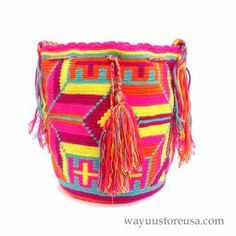 Authentic Crochet Wayuu Mochilas ~wybag-270