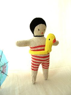 Swimmer doll ready for the Olympic Games. $29.00, via Etsy.