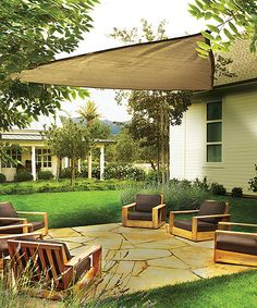 Look what I found on #zulily! Sand Heavyweight Triangle Shade Sail by ShelterLogic #zulilyfinds