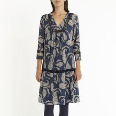 Récente acquisition - robe bleue imprimé cashemere kookai