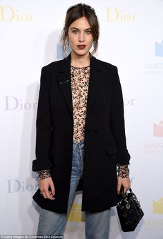 Turning heads! Alexa Chung went for a more racy display as she attended the 2016 Guggenheim International Pre-Party made possible by Dior at the Guggenheim Museum on Wednesday