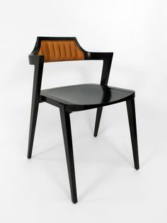 Victoria & Son Stacking Armchair with leather upholstery