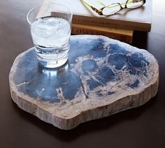 Petrified Wood Tray | Pottery Barn . blue .