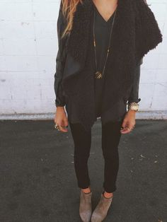 All black causal look