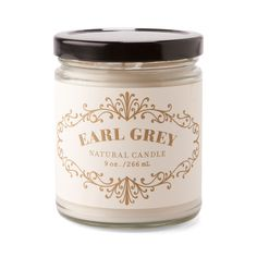 French Apothecary 9oz Candle Earl Grey -- I never drink tea, but at least my apartment can smell like it!