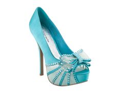 teal zigi soho bow pumps