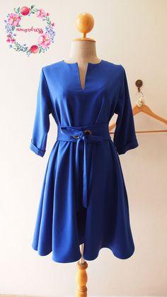OOTD Elbow Sleeve Dress Pockets Dress Plus Size Dress by Amordress
