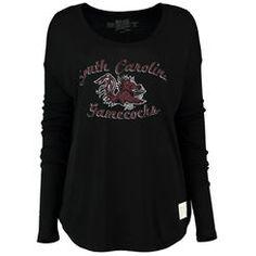 South Carolina Gamecocks Original Retro Brand Women's Relaxed Ribbed Long Sleeve T-Shirt - Black