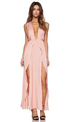 THE JETSET DIARIES Wavelength Maxi Dress in Peach