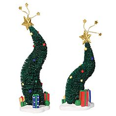 """Department 56: Products - """"Green Glitter Sisal Trees"""" - View Products - I need some more of these Want!! AB"""