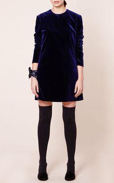 Ara Midnight Velvet Dress by RACIL for Preorder on Moda Operandi