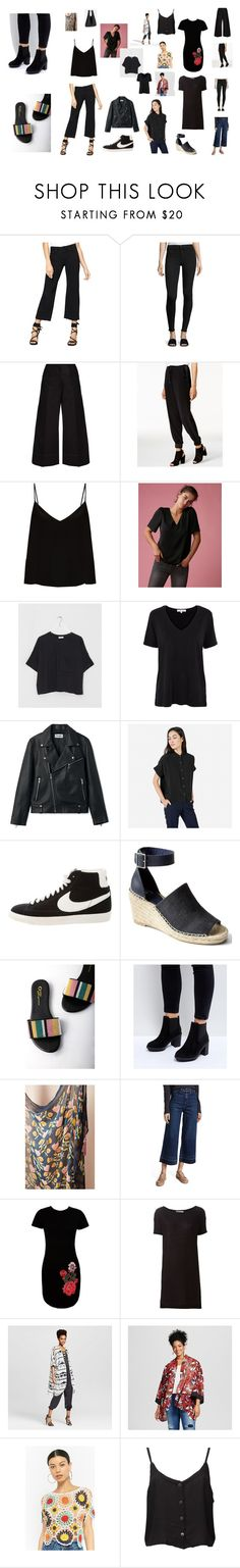 """""""Japan Travel Outfits 2"""" by ursamajor on Polyvore featuring Sanctuary, rag & bone/JEAN, Lemaire, Bar III, Raey, Express, SUZANNE RAE, Lowie, Everlane and NIKE"""