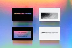 Joaquin Homs. Business card. Design by www.anagrama.com