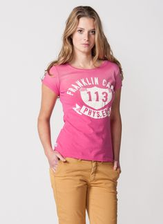 Franklin & Marshall t-shirt inspired by the American cheerleader uniforms
