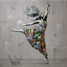 "asylum-art: ""Street art Art by Martin Whatson Artworks combining graffiti and stencil art by Norwegian artist Martin Whatson using monochrome tones splashed with vibrant colors. Graffiti Art, Murals Street Art, 3d Street Art, Street Art Banksy, Amazing Street Art, Mural Art, Street Artists, Amazing Art, Cy Twombly"