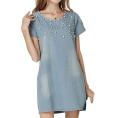 image Denim Short Dresses 8c95aa7a5d57f