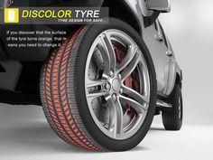 + Design de produto :     Uma bela forma de descobrir se esta na hora de trocar os pneus.  Criação de Gao Fenglin e Zhou Buyi.