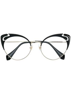 410627920f Miu Miu Eyewear cut-out Cat Eye Glasses - Farfetch