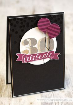Stampin Up Birthday, Anniversary, Balloon Celebration, Number of Years, Dots and… Handmade Birthday Cards, Happy Birthday Cards, Greeting Cards Handmade, Stampin Up Karten, Stampin Up Cards, Card Making Inspiration, Making Ideas, Scrapbook Cards, Scrapbooking