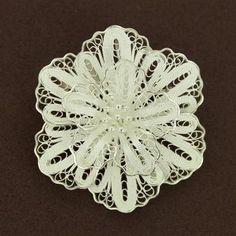 Sterling Silver Filigree Flower Pin/Pendant. (item 4110663) $110.00